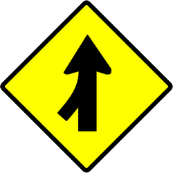 Warning for a side road merging with the main road - Road Sign