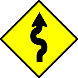 Warning for curves - Road Sign