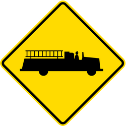 Warning for emergency vehicles - Road Sign