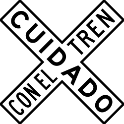 Rail crossing ahead with 1 railway - Road Sign