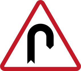 Warning U-turn - Road Sign