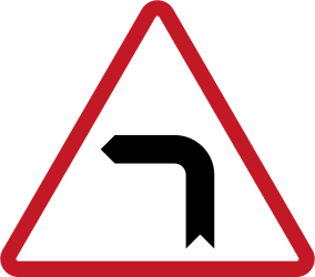 Warning for a sharp curve to the left - Road Sign