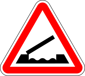 Movable bridge warning - Road Sign