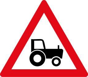 Warning for tractors - Road Sign