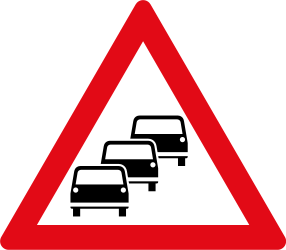 Warning for traffic jams - Road Sign