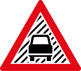 Warning of poor visibility due to rain, fog or snow - Road Sign