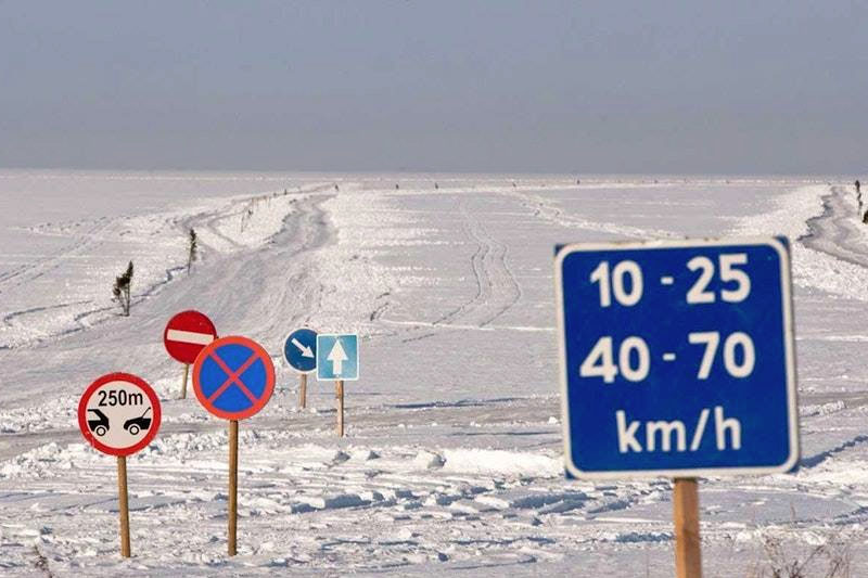 driving in estonia ice road