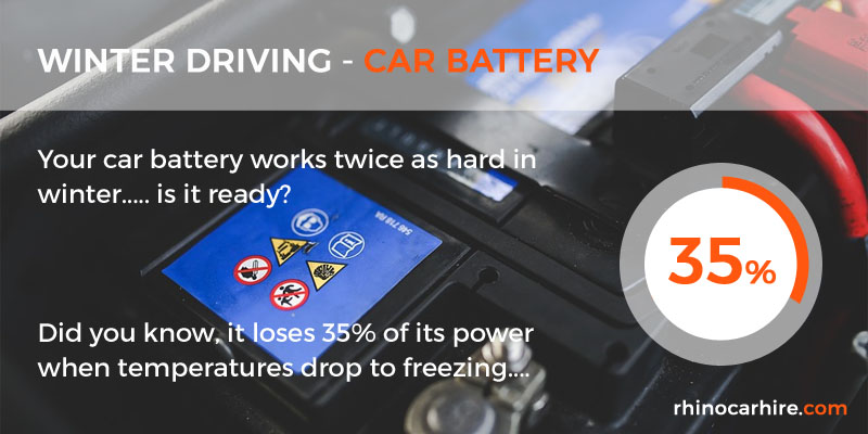 winter driving battery
