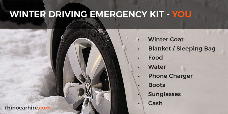 winter driving emergency kit for you