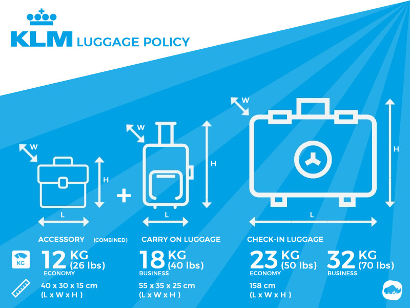 Klm Excess Baggage Baggage Allowance And Charges On Klm