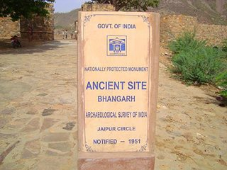 Bhangarh Sign