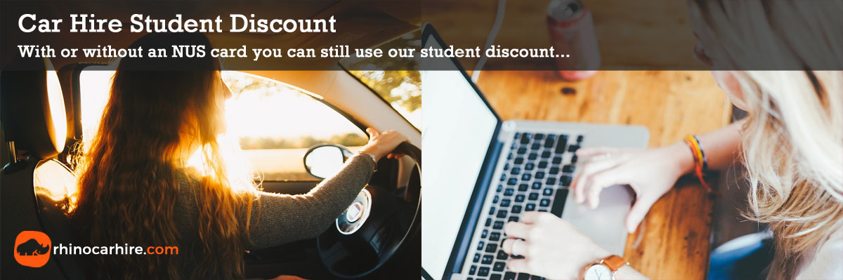 NUS student discount car hire