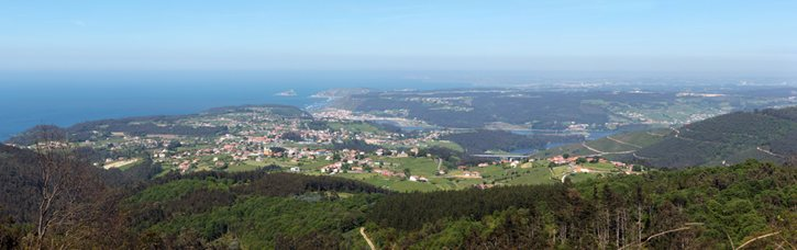 Panoramic in the coast in Asturias, north of Spain