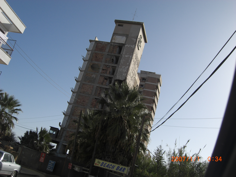 Bombed out Hotel Famagusta