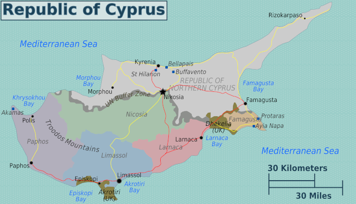 Map of Cyprus Ghost Town