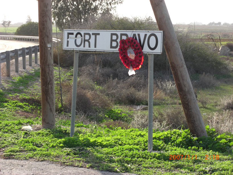 Fort Bravo Road Sign Cyprus
