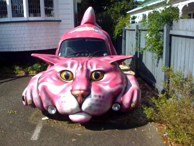 Pink Pussy Cat Car