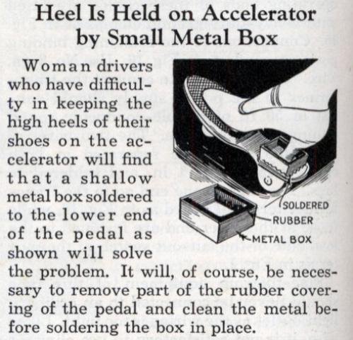 Tool for Driving in High Heels