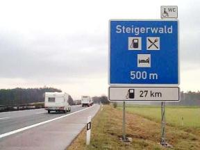 Motorway Services Sign Germany