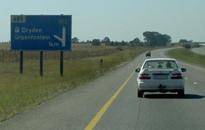 Motorway Sign in South Africa