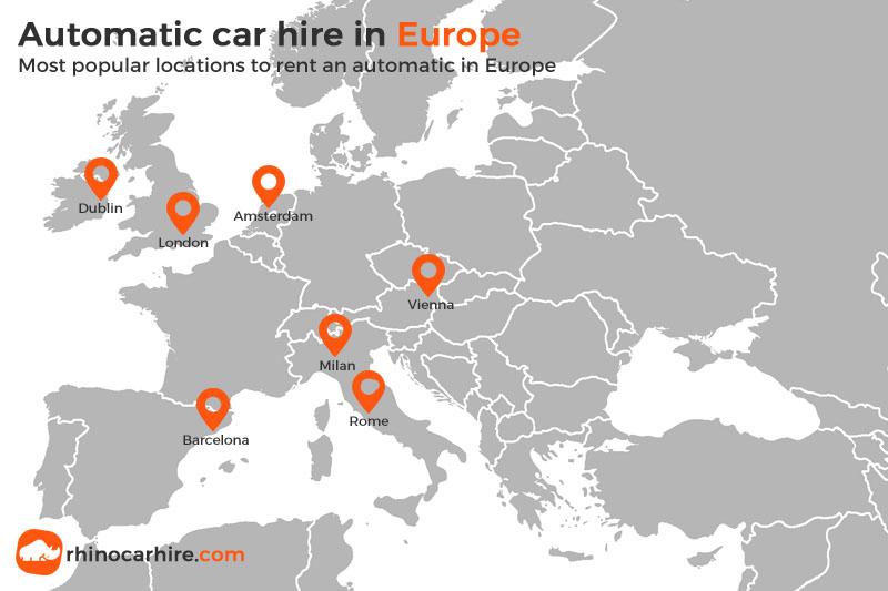 location de voiture automatique europe