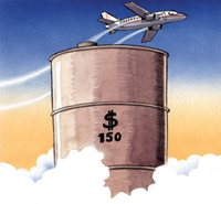 The rising price of oil is raising the cost of travel and causing many airlines to go bust.