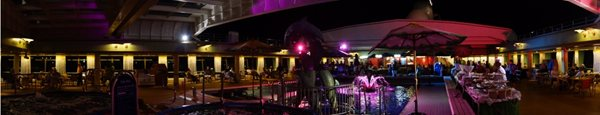 ms Veendam Lido Deck at night