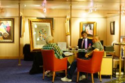 Art Gallery aboard the ms Veendam Cruise Ship