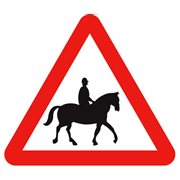 accompanied horses or ponies sign