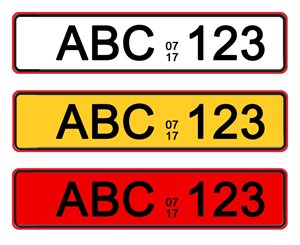 northern cyprus number plates