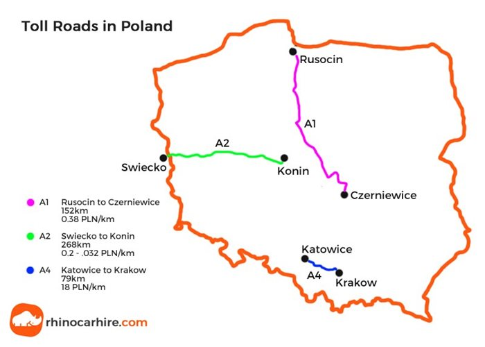 toll roads in poland