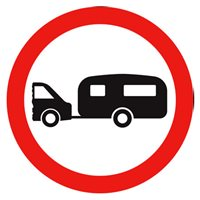 no towed caravans