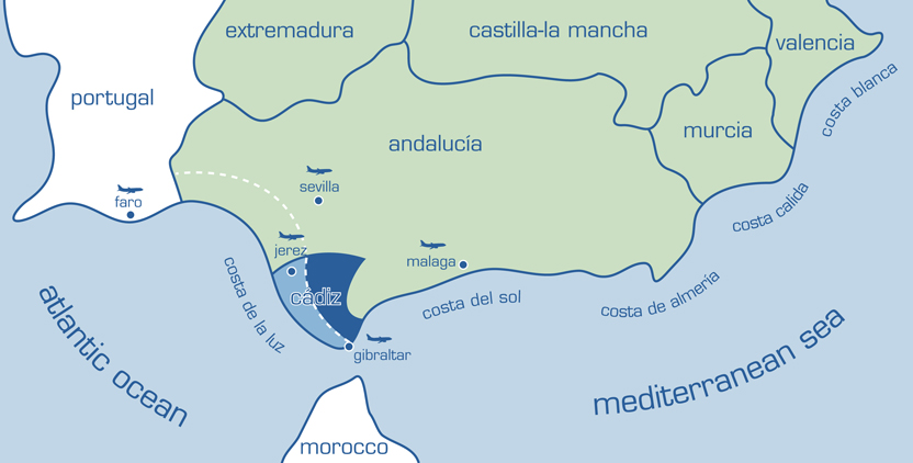 Map Of Spain Oceans.The Spanish Costas Map Of The Spanish Costas From Rhino